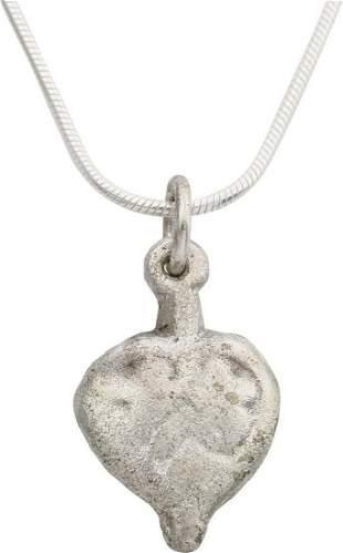 VIKING HEART PENDANT NECKLACE, 900 AD
