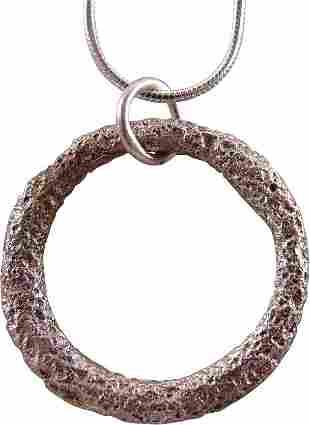 CELTIC PROSPERITY RING NECKLACE C.400-100 BC JEWELRY