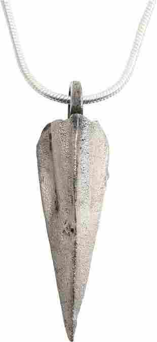FINE GREEK/ACHAEMENID ARROWHEAD PENDANT C.8th-3rd BC