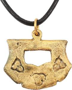 MEDIEVAL WARRIOR'S PENDANT NECKLACE 14-15 CENT JEWELRY