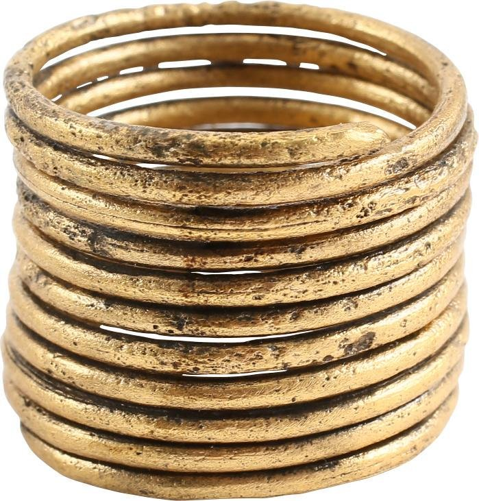 ANCIENT VIKING COIL RING 850-1050 AD JEWELRY SZ 9 3/4