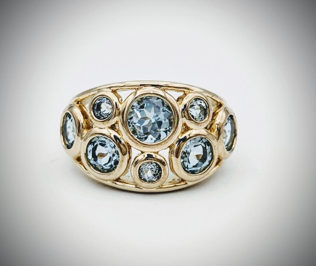 Blue Topaz Sz 7 Ring