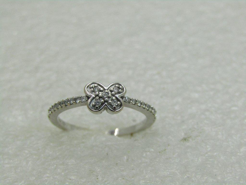 14kt Diamond Butterfly Ring, Sz. 4.5, Signed JD, 1.51