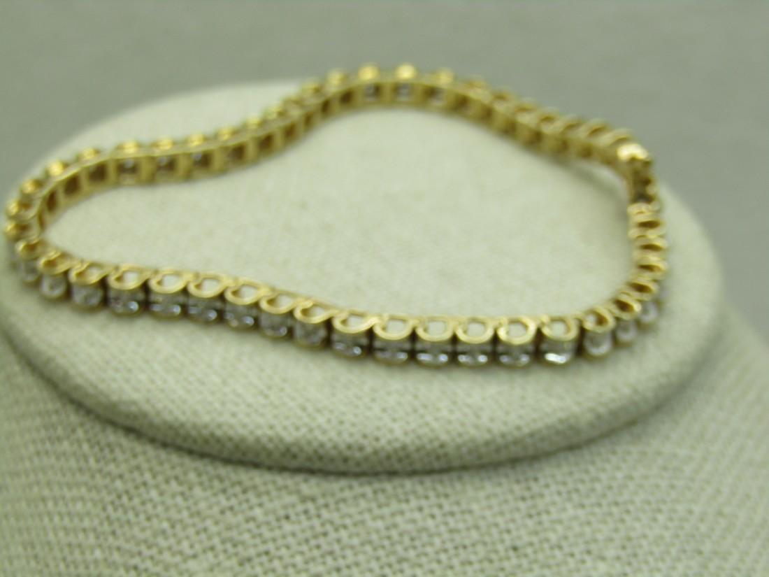 """14kt Gold Diamond Tennis Bracelet, 1.44 tcw, 7.25"""""""