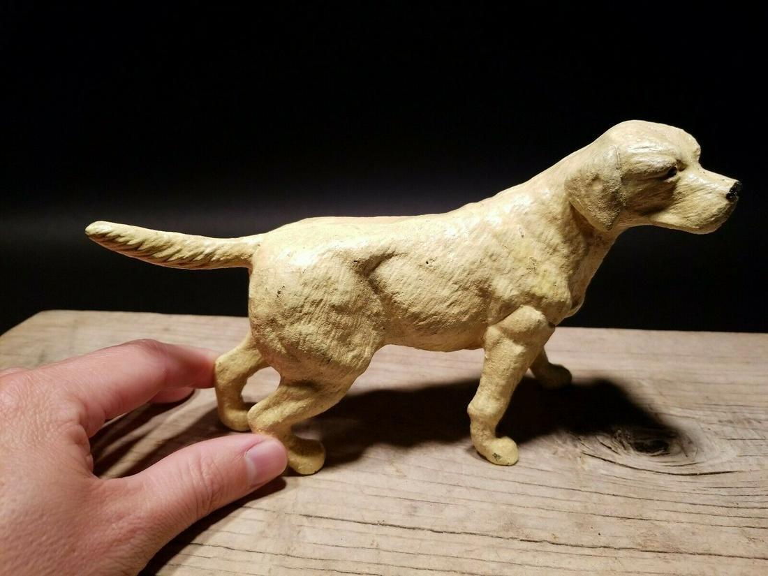 Miniature Cast Iron Yellow Lab Dog