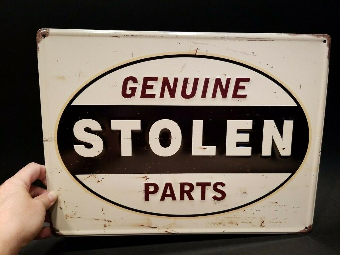 """""""Stolen"""" Classic Auto Parts Sign"""