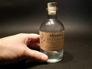 Glass Apothecary Arsenic Poison Bottle