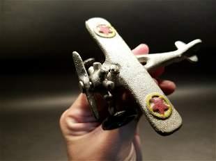 Cast Iron Airplane Toy