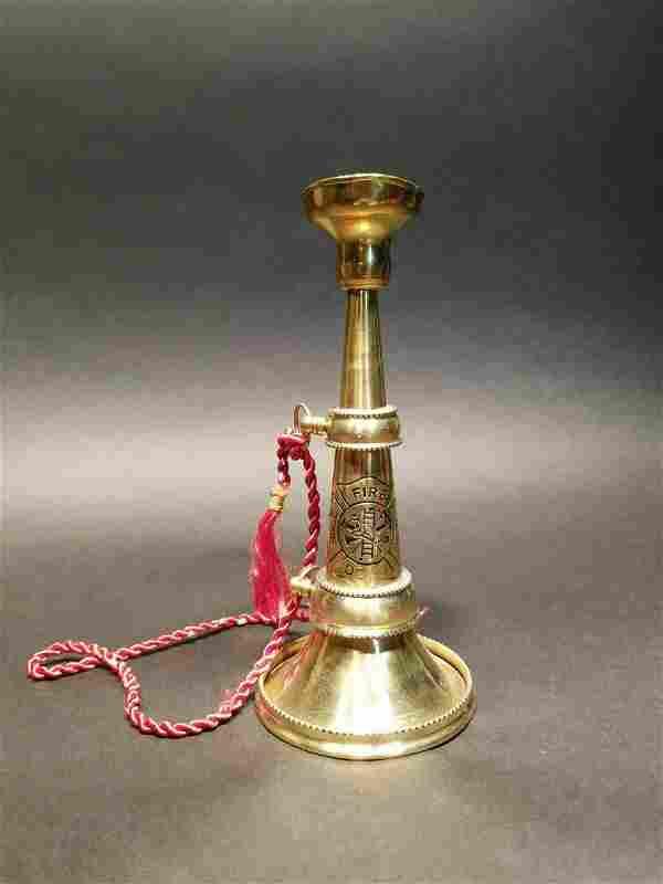 """9"""" Brass Fireman Presentation Horn Speaking Trumpet"""