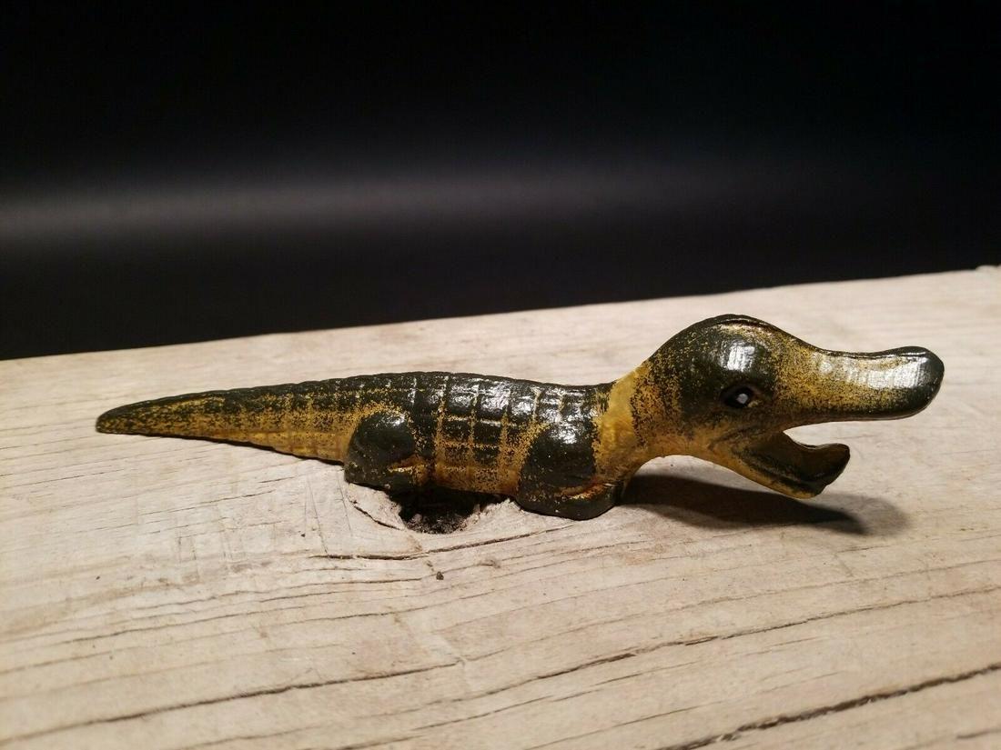 Cast Iron Alligator Bottle Opener bar tool