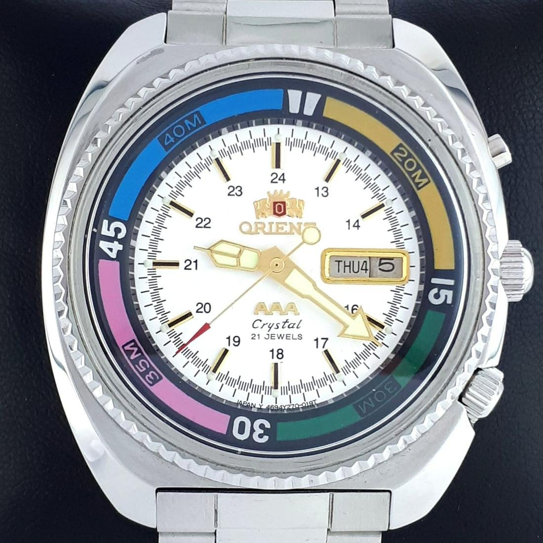 Orient - AAA Crystal Day Date Automatic Diver Vintage -