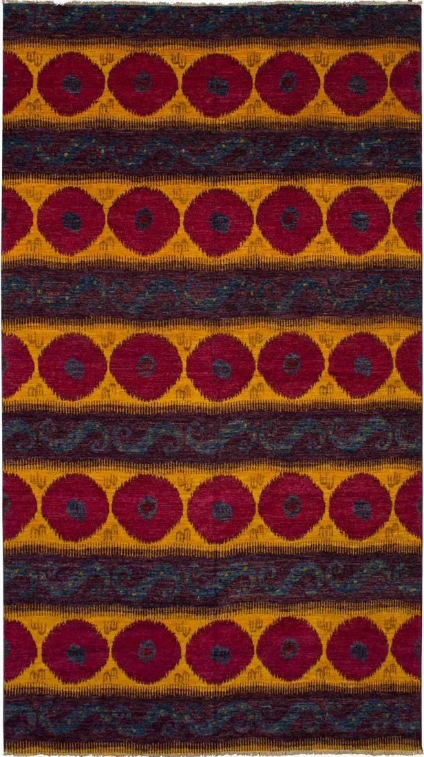 """Hand-knotted Shalimar Red, Yellow Wool Rug 9'0"""" x 16'2"""""""