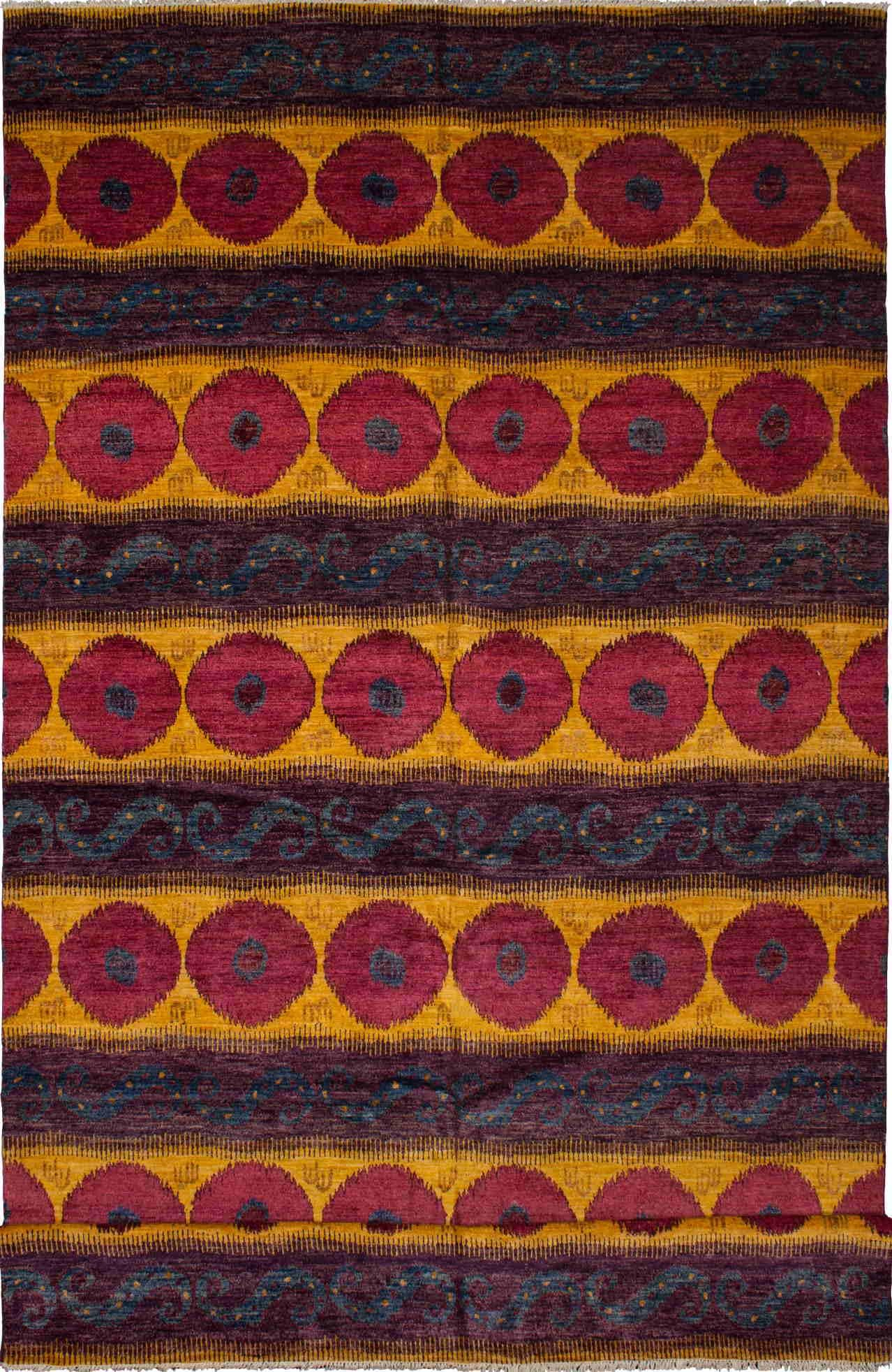 """Hand-knotted Shalimar Red, Yellow Wool Rug 10'5"""" x"""