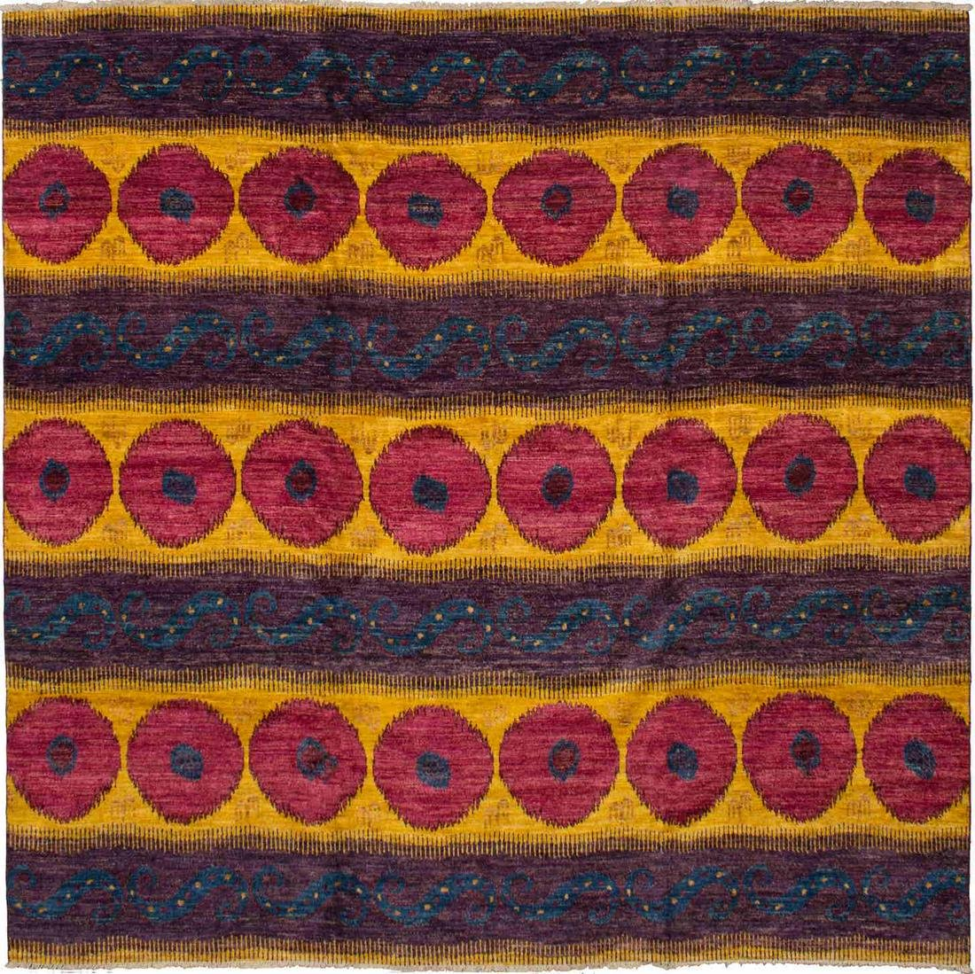 """Hand-knotted Shalimar Red, Yellow Wool Rug 11'9"""" x"""