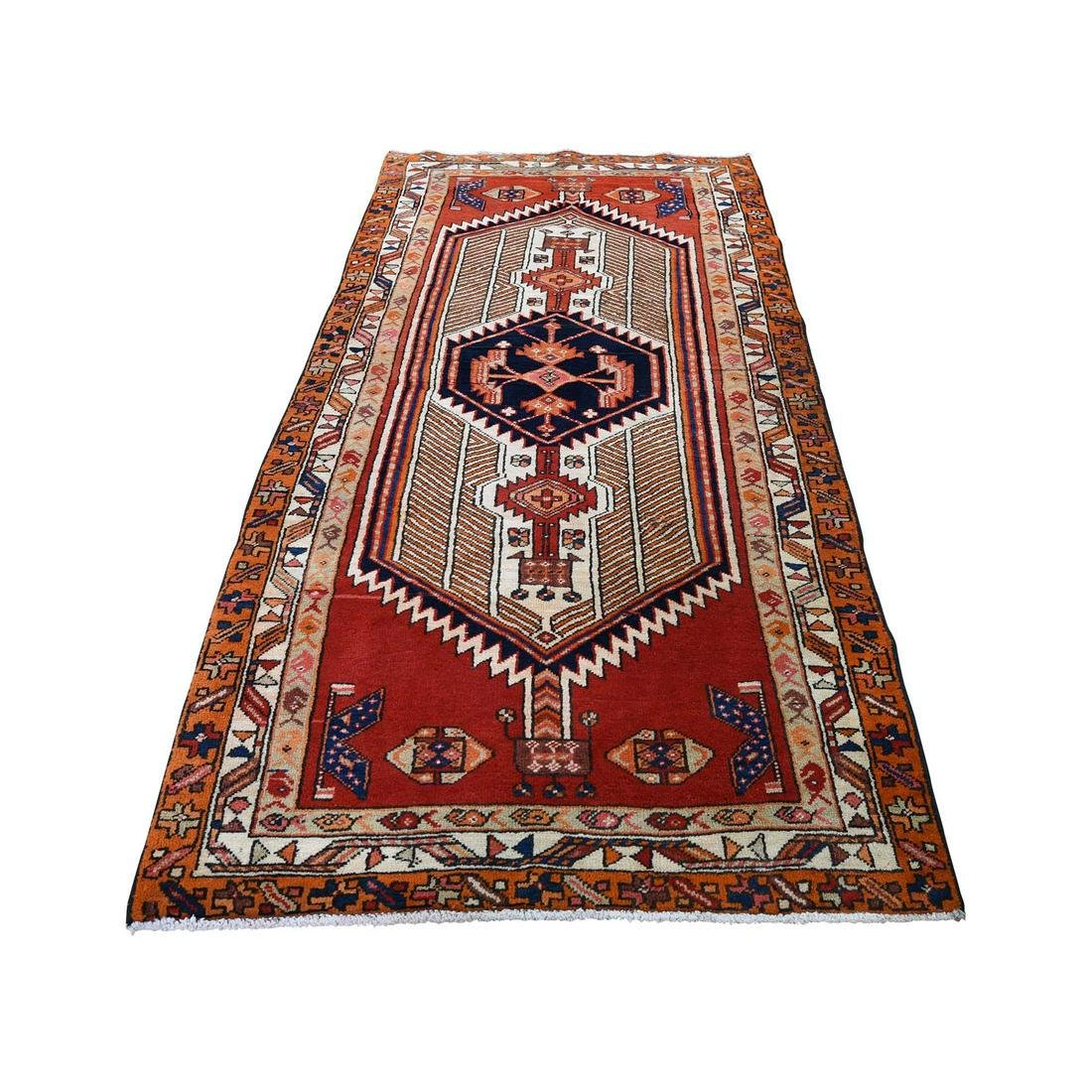 Northeast Persian Tribal Hand-Knotted Pure Wool Wide