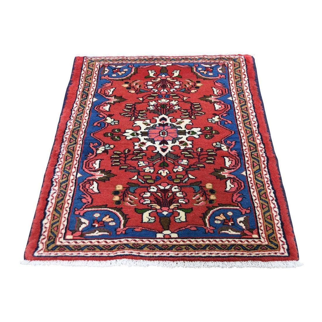 Red New Persian Lilahan Pure Wool Hand-Knotted Oriental