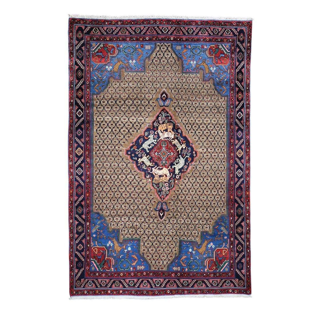 New Persian Camel Hair Serab Hunting Design Pure Wool