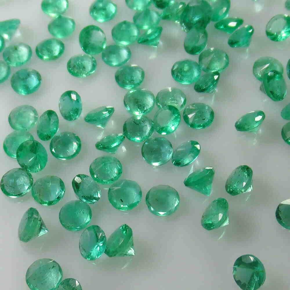 10.01 Ctw Natural 119 Zambian Emerald Round Lot