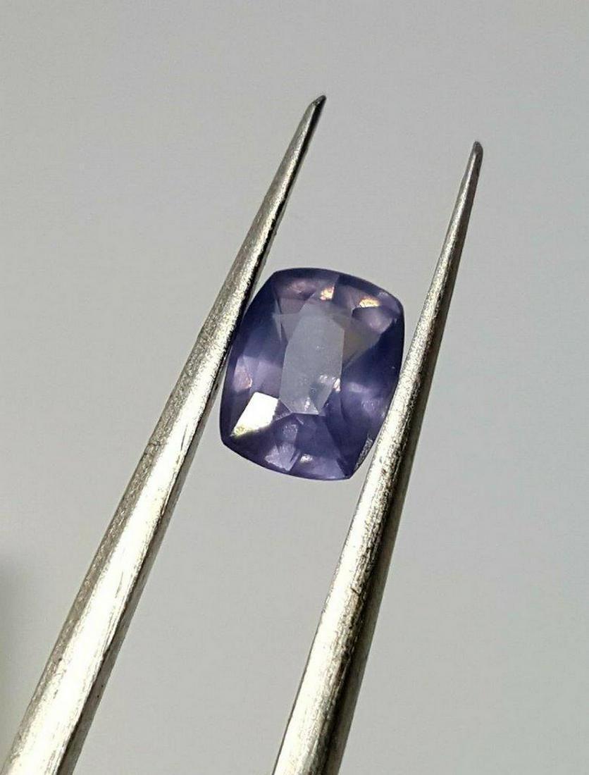 50 Cent Natural Pinkish Blue Sapphire