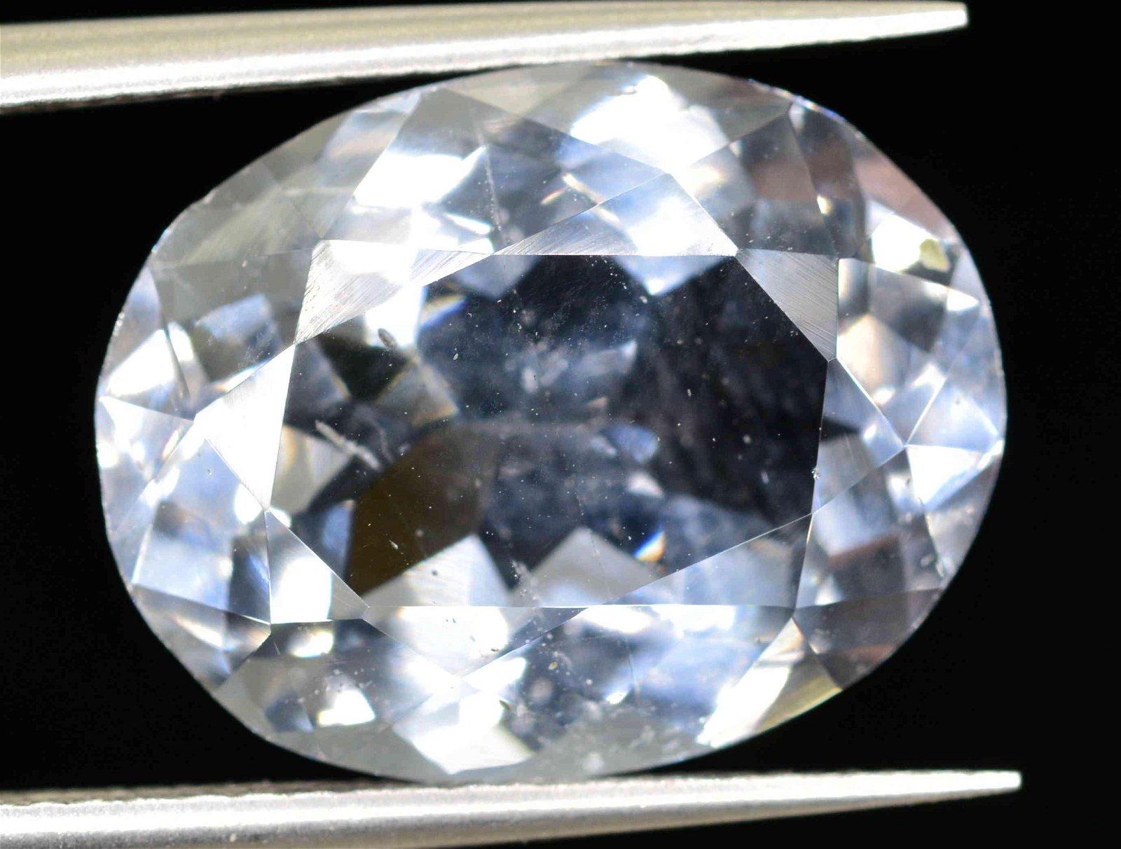 6.6 Carats Oval Cut Beautiful Aquamarine~14x11x6 mm