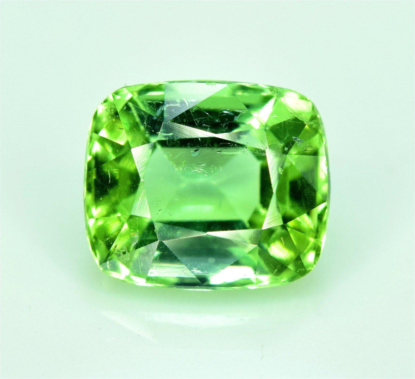 Tourmaline Gemstone , Mint Green Tourmaline Cut stone ,