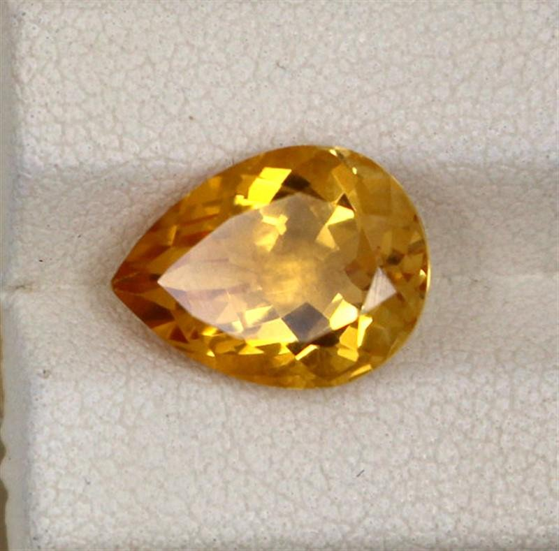4.97ct Natural citrine pear cut