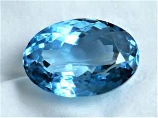 SWISS BLUE TOPAZ 1303 ct CERTIFIED IGI