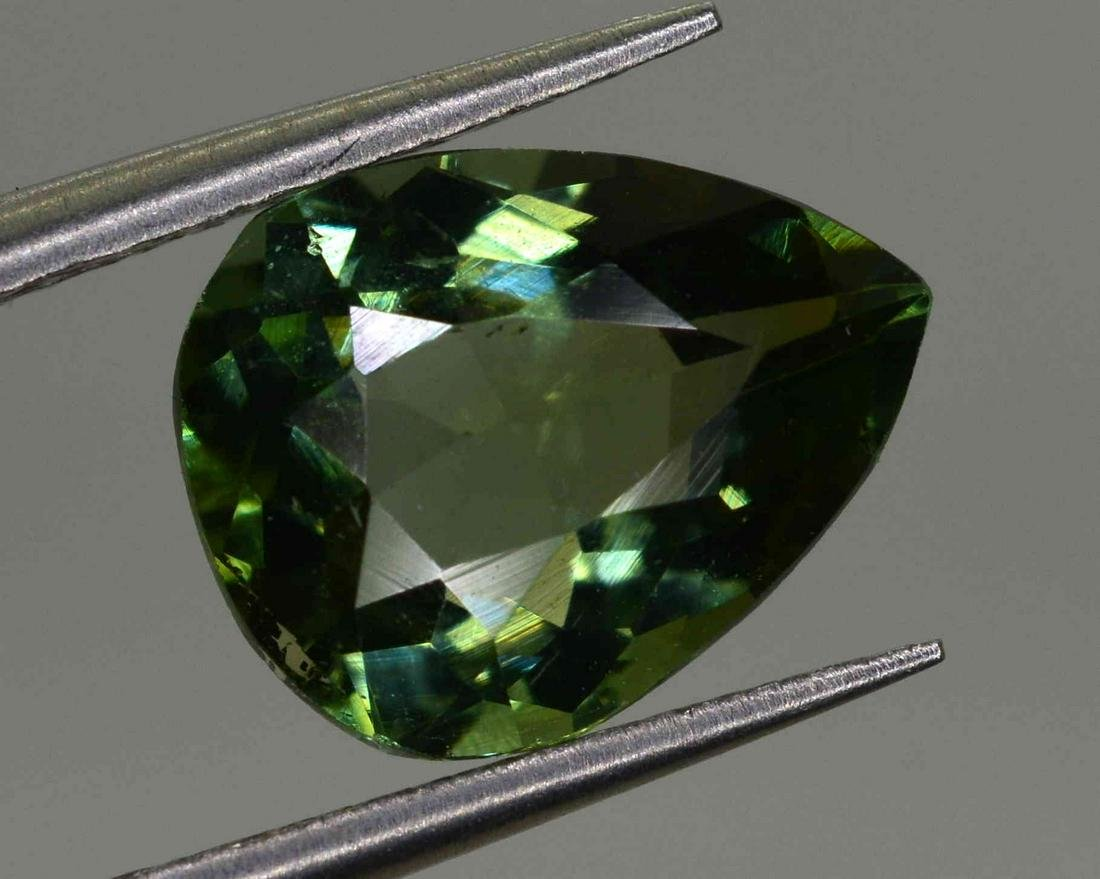 3.3 Carats Pear Cut Natural Tourmaline~8x6x4 mm