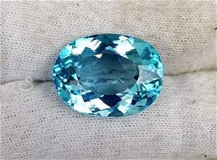 31 carats Top Quality Swiss Blue topaz 23X22X12mm