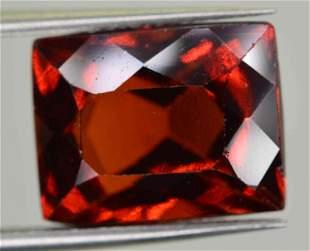 64 Carats Cushion Cut Hessonite Garnet 11x9x7 MM