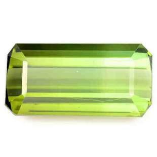 1049 ct natural AIG certified teal green tourmaline