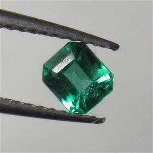 051 Ct Natural Zambian Emerald Octagon Cut