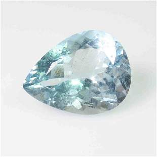 744 Ctw Natural Blue Aquamarine Pear Cut