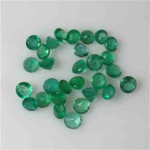 1080 Ctw Natural 40 Zambian Emerald Round Lot