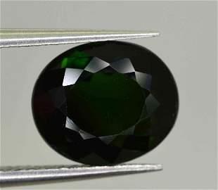 2 Carats Round Cut Green Tourmaline9x7x4 mm
