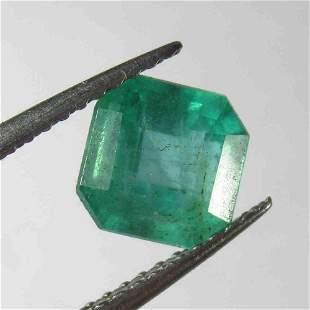 164 Ctw Natural Zambian Emerald Octagon Cut