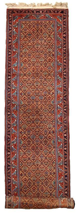 Vintage Persian Hamadan runner 2.6' x 11.3' (79cm x