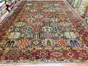 Large size antique persian Bakhtiari rug-3022