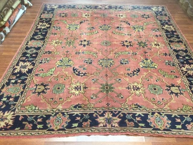 Antique Room Size Turkish Ushak Rug-3379