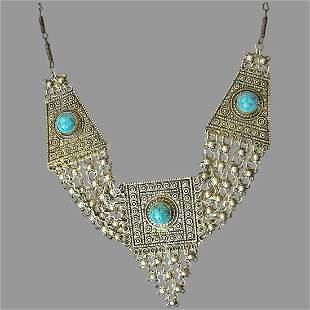 Judaica Bezalel style Yemenite gilded filigree silver