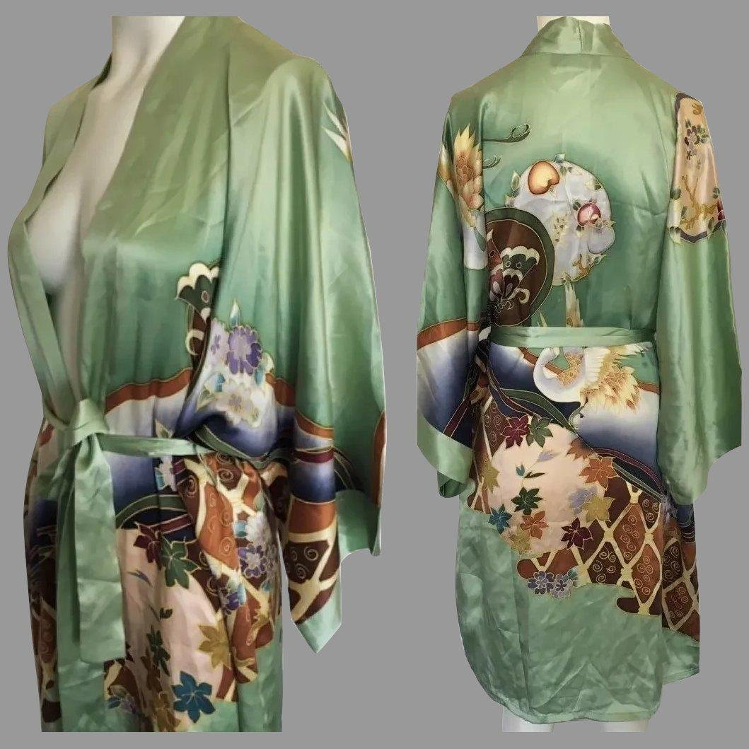 Old Shanghai Gorgeous hand Painted breathable silk