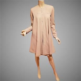 Jean Muir London Swing Coat and skirt ensemble Lucite