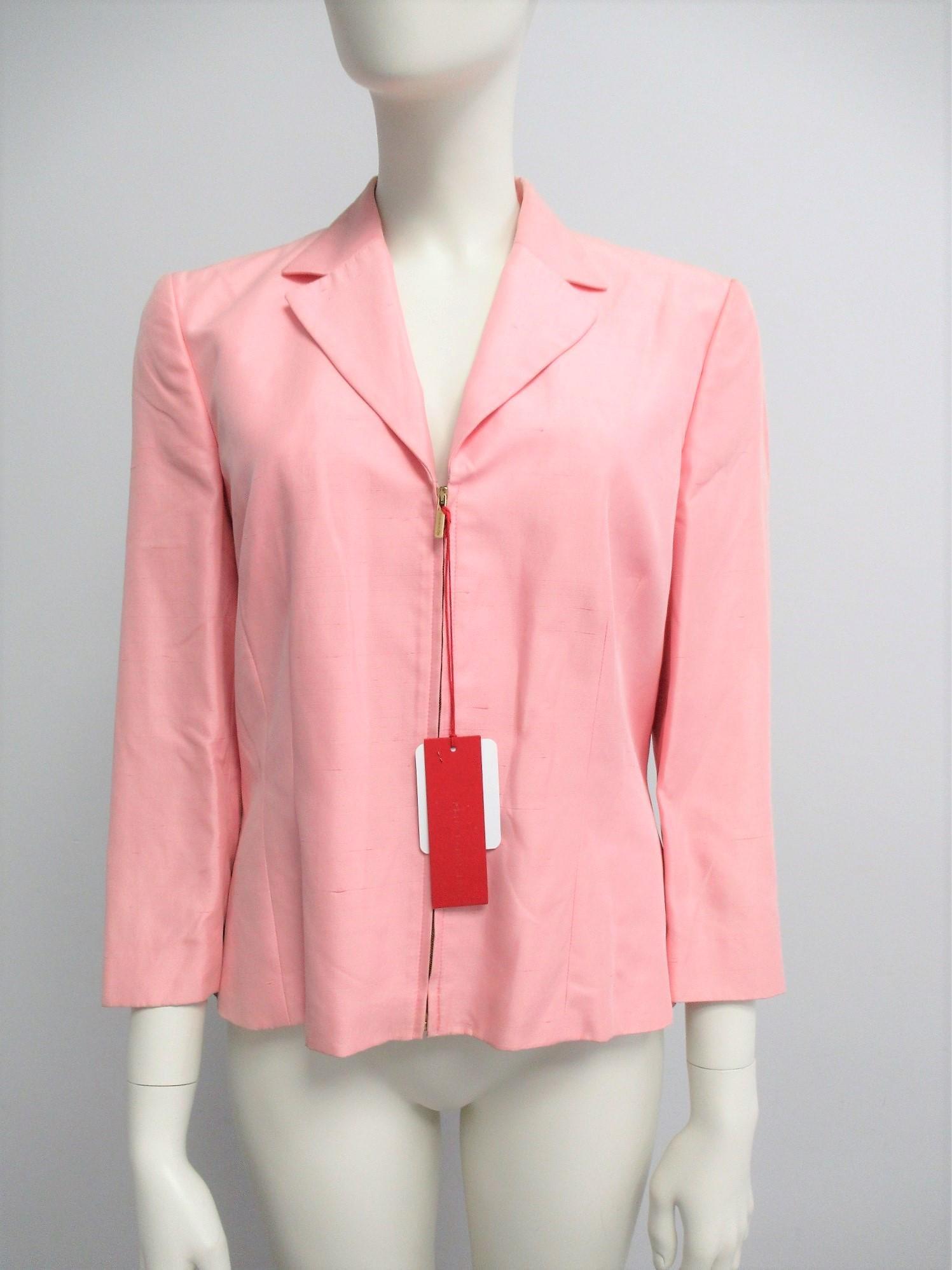 """Rena Lange"" silk blend jacket, size M"