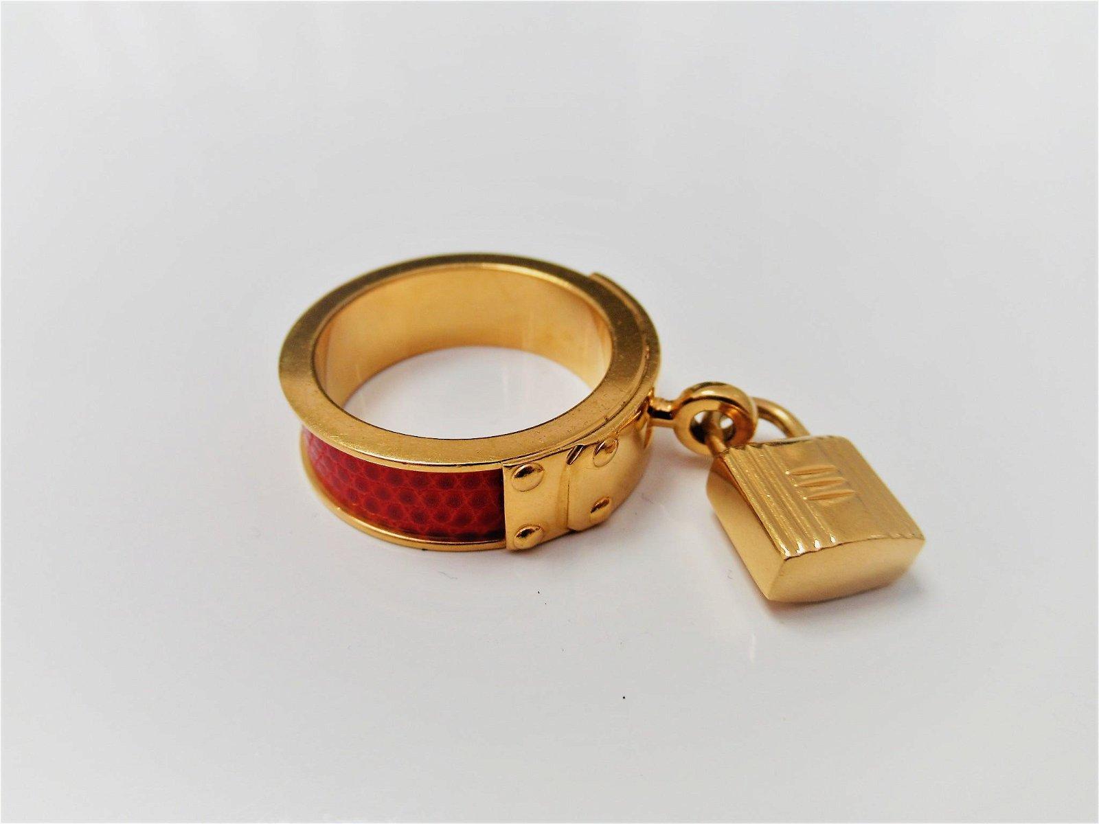 """""""Hermès"""" metal ring"""