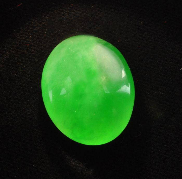 Exquisite Loose Natural Apple Green Jadeite Jade