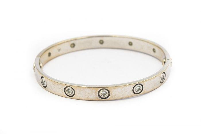 Cartier White Gold and 10 Diamond Love Bracelet Serial