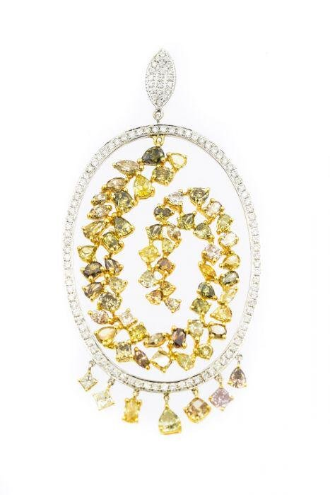 Contemporary Yellow Gold and Fancy Color Diamond