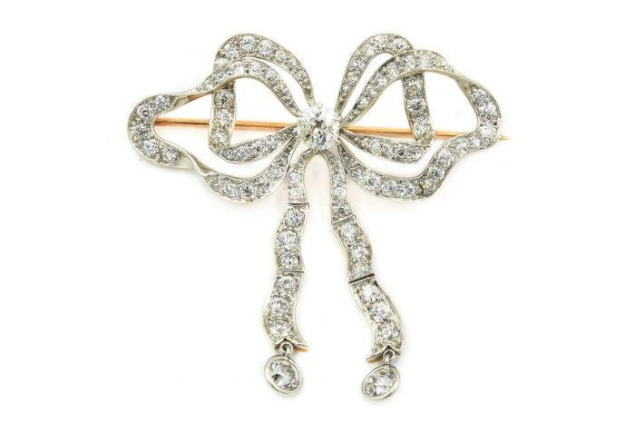 Estate 1950's Platinum Topped Yellow Gold and Diamond