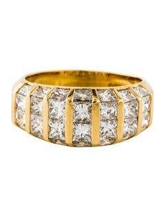 Contemporary Yellow Gold and Quadrillion Diamond Ring