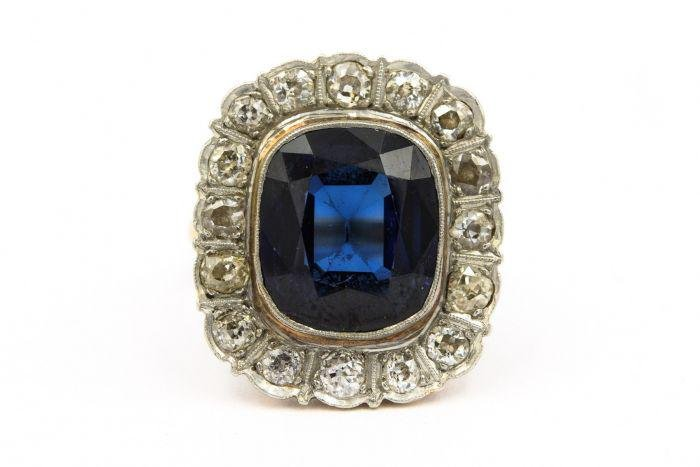 Victorian Platinum Topped Yellow Gold Diamond and